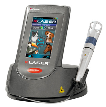 K-Laser Cube 2 model Class IV therapeutic laser for veterinary practices